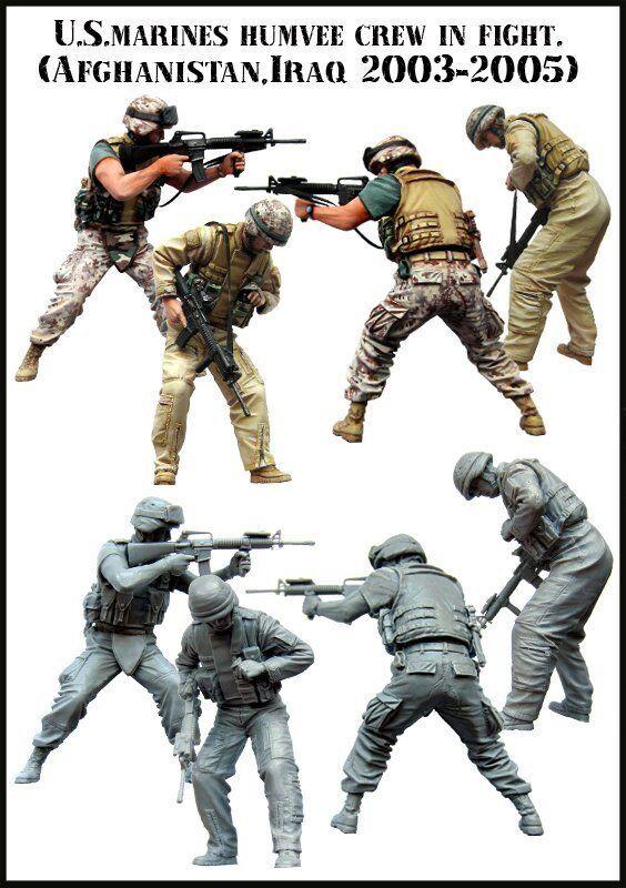 Afghanistan Verlinden 1//35 News Press Crew with Gear in Iraq 2 Figures 2646