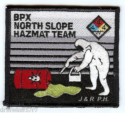 "Industrial - B.P.X.  North Slope Haz-Mat Team, AK  (3.5"" x 3"" size) fire patch"