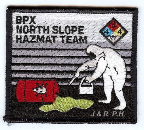 "B.P.X North Slope Haz-Mat Team fire patch 3.5/"" x 3/"" size AK Industrial"