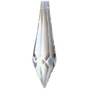 2 Puntale 424 mm.76x16 Cristallo Asfour Pendente per lampadario 30% Pb Ricambio