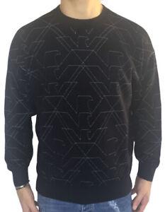 EMPORIO-ARMANI-maglione-felpa-blu-con-loghi-a-contrasto-art-6Z1MY7-sconto-50
