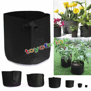 Round-Fabric-Pots-Plant-Pouch-Root-Container-Grow-Bag-Aeration-Pot-Container