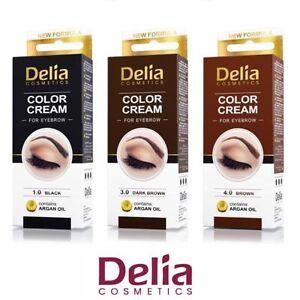 DELIA HENNA / COLOR CREAM EYEBROW PROFESSIONAL TINT KIT SET Brown ...