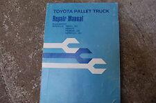 Toyota Hb Hba Hbw Hbwa 20 30 Forklift Pallet Truck Service Manual Supplement Oem