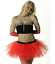 LADIES-RED-DELUXE-SANTA-HAT-TUTU-COSTUME-CHRISTMAS-XMAS-FANCY-DRESS-PARTY-OUTFIT miniatuur 2