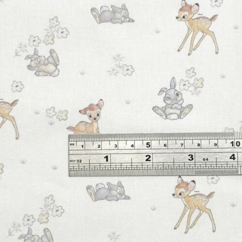 100/% Cotton Digital Fabric Bambi and Thumper Disney Classic Floral Flower