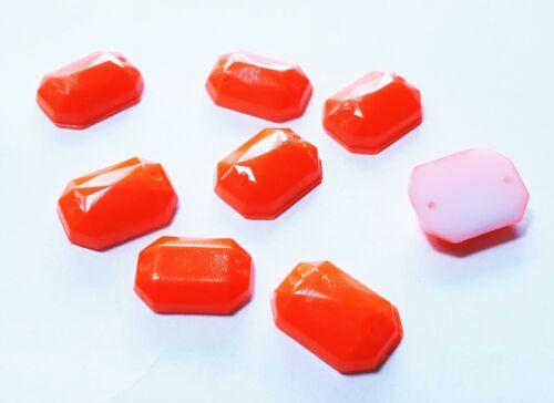Bead Stone Néon Fluorescent Peint Dos Plat Facette A Coudre Sur acrylique bijoux Gems