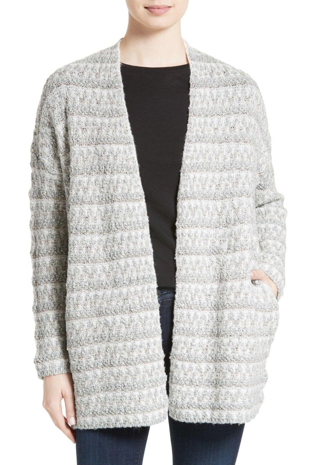 NWT- Joie Lerado Boucle Cardigan Sweater, Porcelain Antique Silber - Größe Medium