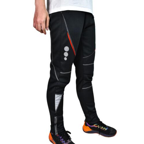 Men/'s Winter Windproof Cycling Pants Fleece Thermal Bicycle Bike Warm Trousers