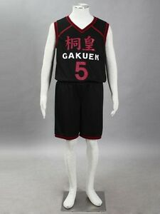 Kuroko/'s Basket Gakuen Aomine Daiki No.5 Jersey Cosplay Costume Standard Size