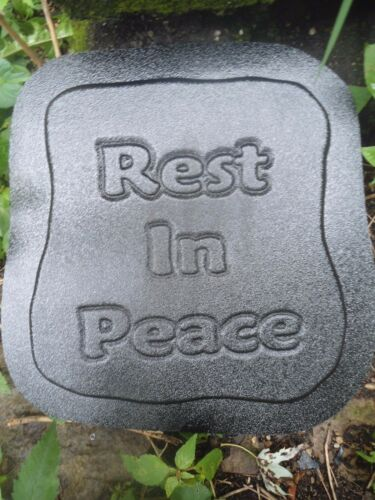 Rest in Peace memorial mold plaster concrete resin casting mould