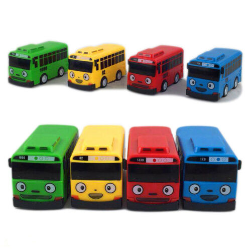 4PC Set the Little Bus Tayo Friends Cute Car Model Scale Pull-back Toy Xmas Gift