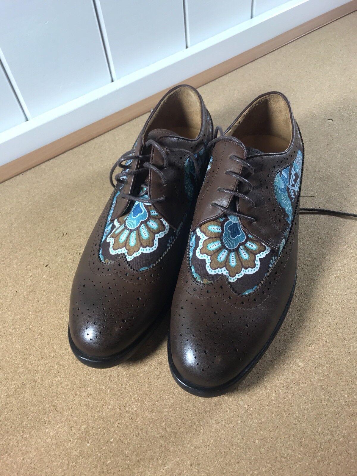 Grand Frank Stocholm Shoes Oxford Leather/Fabric Size 44 10.5 10 1/2 Scarpe classiche da uomo