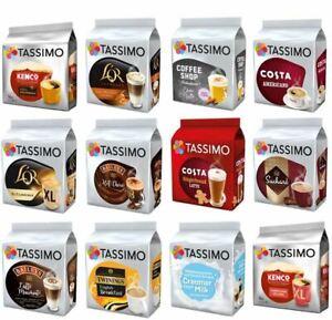 Tassimo Coffee Latte Chocolate Espresso 8 Disc Mix Match Sample Taster HALF PACK