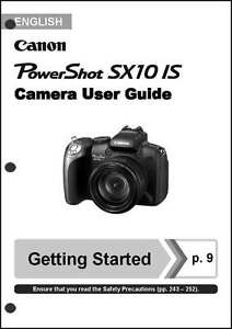 canon powershot sx10 is digital camera user instruction guide manual rh ebay com canon powershot a590 user manual download Canon PowerShot A590