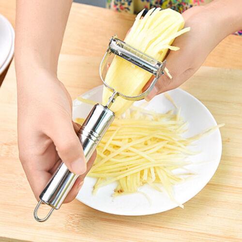 New Vegetable Carrot Potato Stainless Steel Peeler Grater Slicer Cutter Gadget