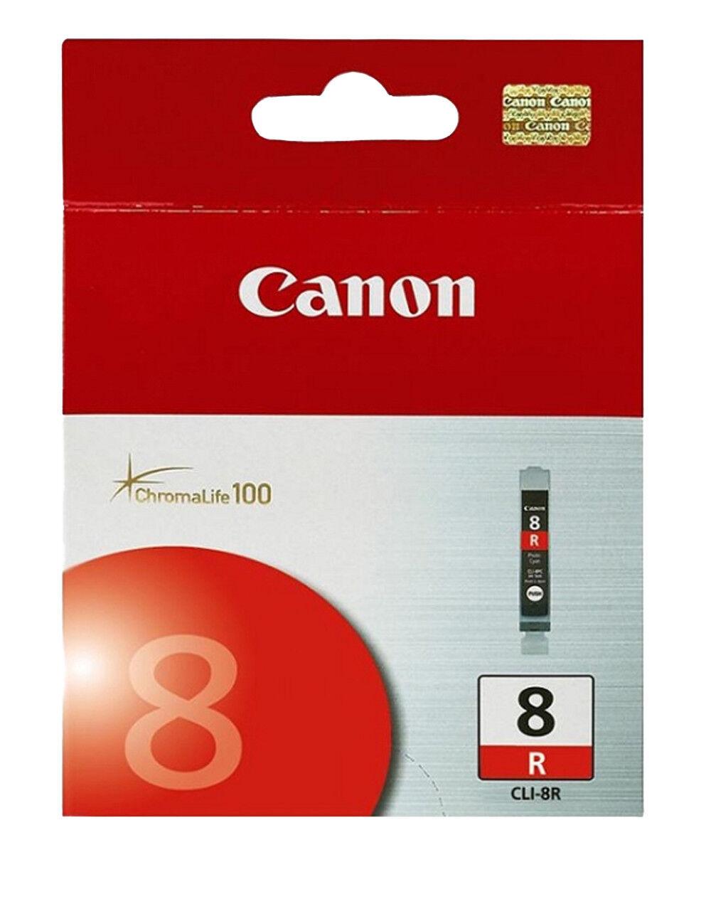 NEW 8PACK GENUINE CANON PIXMA CLI-8 BK M C Y PM PC R G Pro9000 INK CARTRIDGE OEM