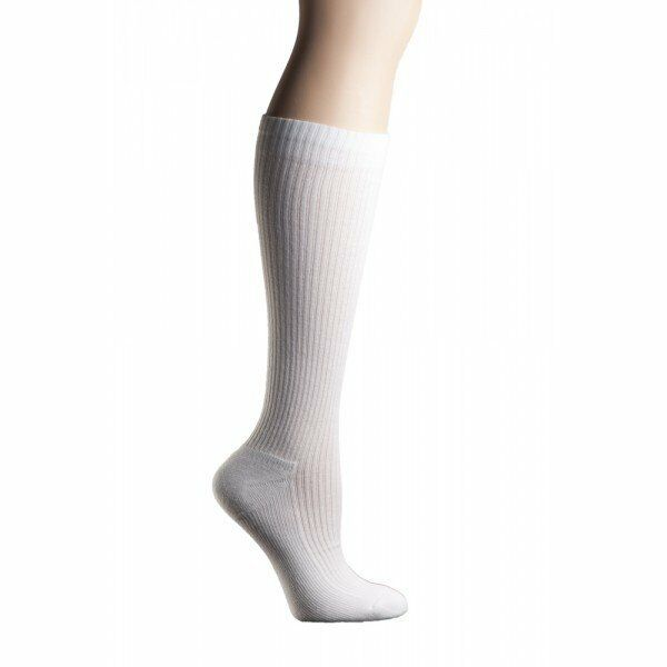 b85d0c972b MD USA Ribbed Cotton Compression Socks With Cushion Soles White Large for  sale online | eBay