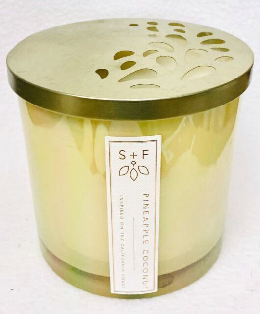 1 Sand + Fog PINEAPPLE COCONUT Soy Wax Blend Large 3-Wick