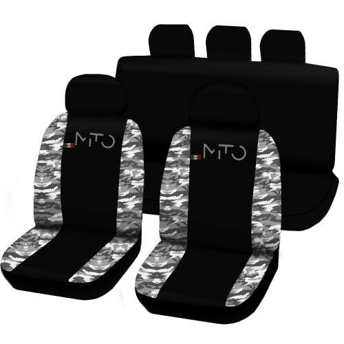 CAR SEAT COVERS SPECIFIC ALFA MITO TWO-COLOURED BLACK CAMOUFLAGE CLEAR