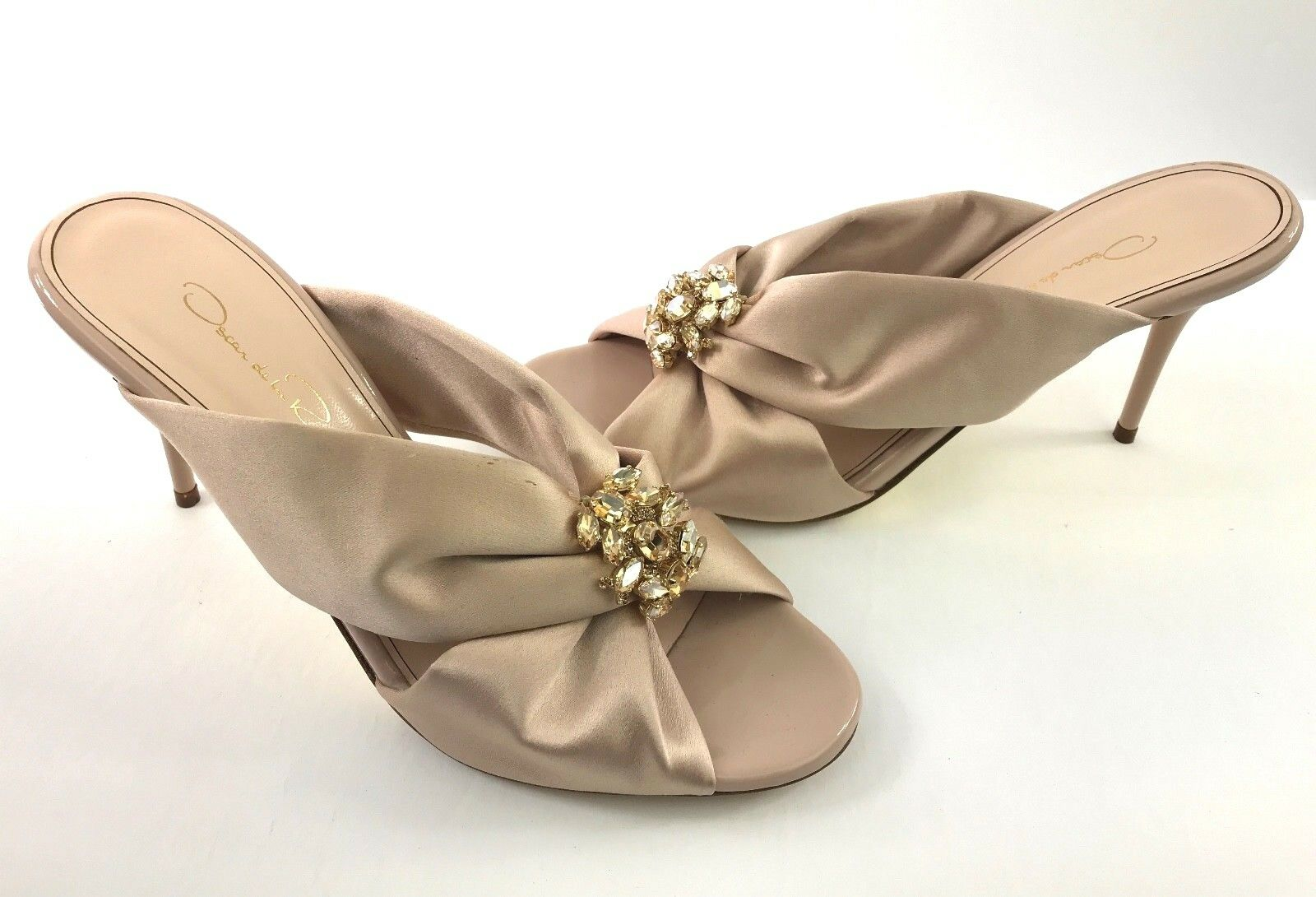 promozioni Oscar Oscar Oscar De La Renta New 'Glenn' Satin Mule Nude Beige scarpe Dimensione 36.5 US 6  alla moda