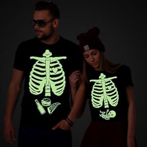5557dafebdea3 Image is loading Glow-in-the-dark-Halloween-Maternity-Skeleton-Baby-