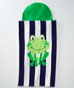 JUMPING-BEANS-Frog-Ages-3-6-Cotton-Striped-HOODED-BEACH-WRAP-BATH-TOWEL
