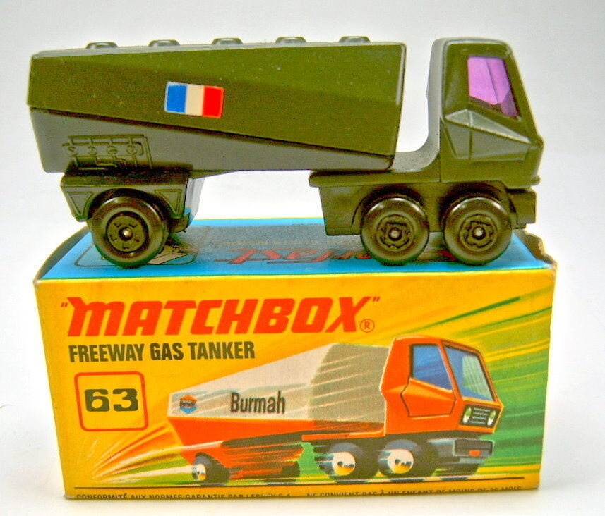 MATCHBOX SF N. 63b GAS petroliere nero oliva verde