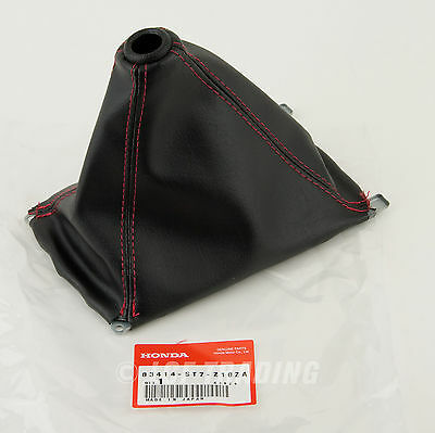 94-01 Acura//honda Integra Type-r Dc2 Ek Red Stitch Jdm Shift Boot