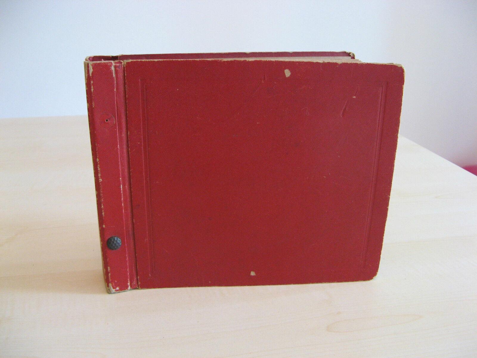Arredamento D'antiquariato Complementi D'arredo Vecchio Contenitore Valigetta Porta 45 Giri Vintage Anni 60 Per Vinile Rosso