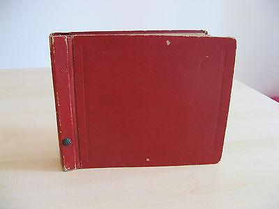 Arredamento D'antiquariato Vecchio Contenitore Valigetta Porta 45 Giri Vintage Anni 60 Per Vinile Rosso Complementi D'arredo
