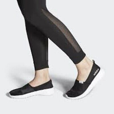 NIB Adidas Lite Racer Slipon Women's Running Shoes Black/White Free Shipping | eBay