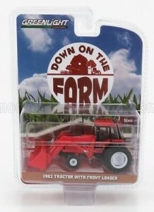 GREENLIGHT 1/64 TRACTOR | WITH FRONT LOADER 1982 | RED