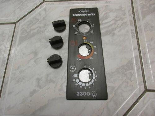 Vorwerk Thermomix TM3300 Panel mit 3 Drehknöpfen TM 3300