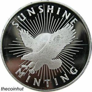 Sunshine-Mint-SMI-Eagle-1-oz-999-Fine-Silver-Round-SI-Mint-Mark-CoinHut5129