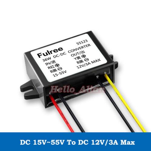 DC-DC Buck Step Down Volt Converter 24V 36V 48V to 12V Car Power Supply Module