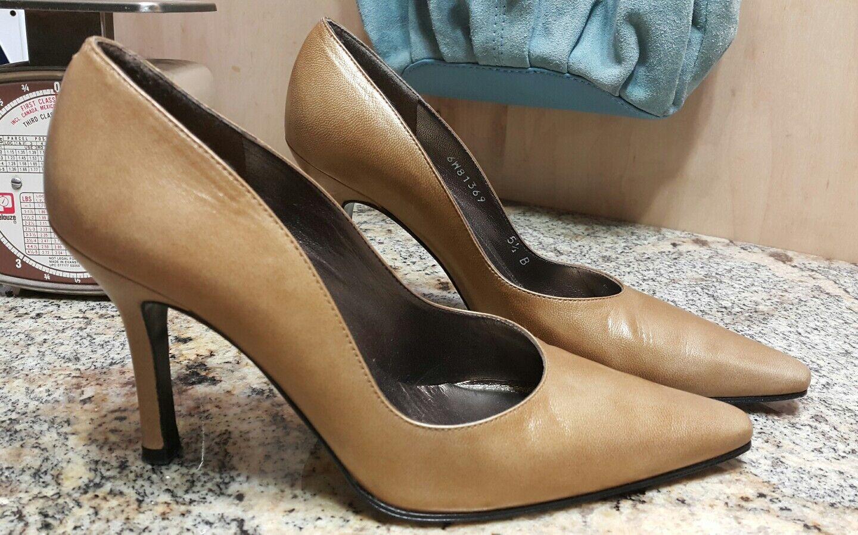 Stuart Weitzman Gold Shimmering Square Pointed-Toe pumps pumps pumps Größe 5.5 B Slim heel 553d19