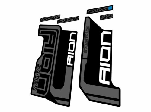 Suntour AION 2015 Forks Suspension Decals Factory Sticker Set Adhesive Gray
