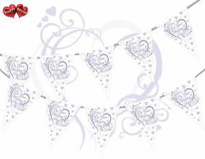 On-Your-Wedding-Day-Heart-Lilac-Bunting-Banner-15-flags-Simply-Stylish-Touch-UK