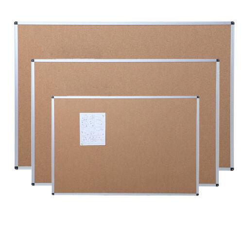 Cork Notice Message Board Aluminium Frame Office Memo School Home Pinboard