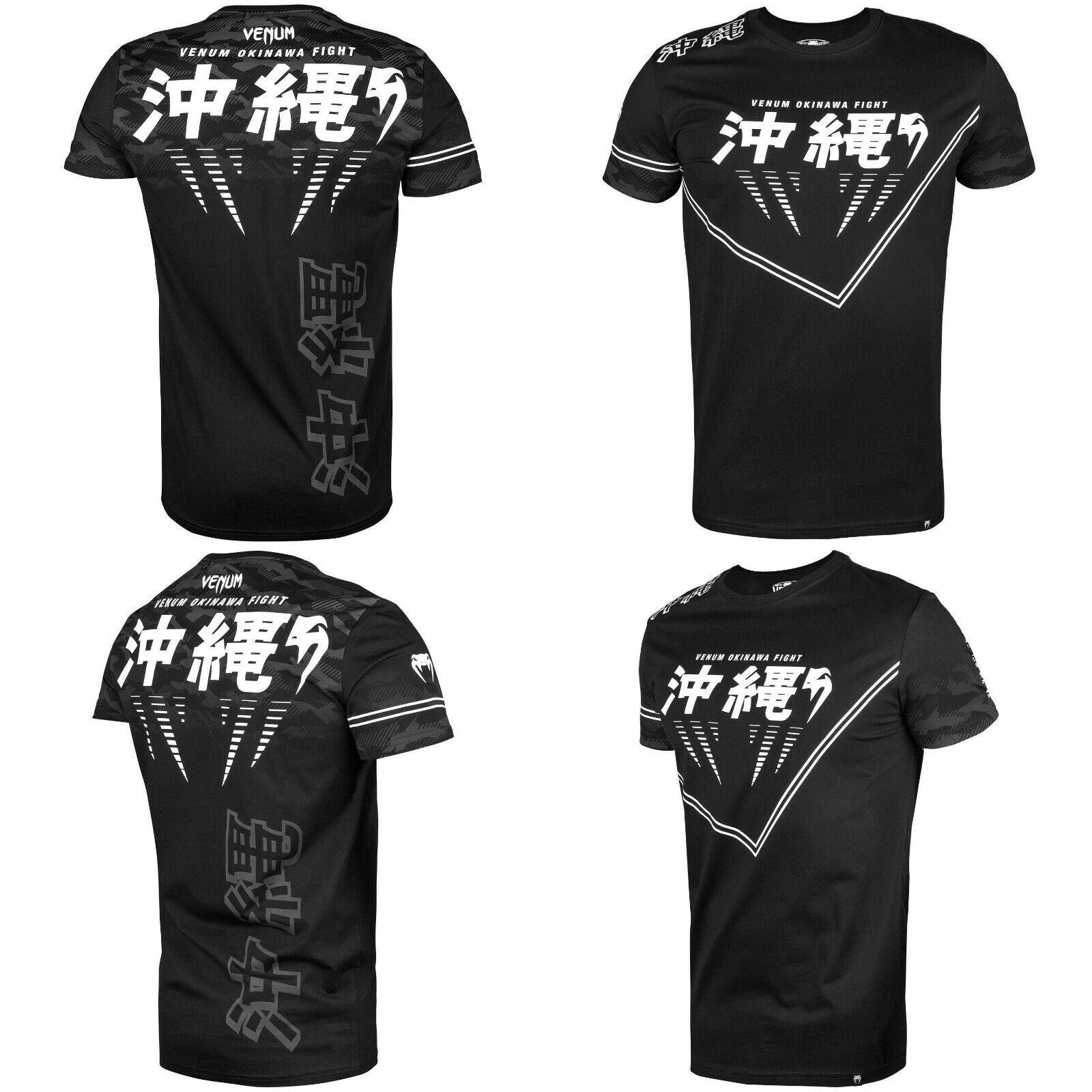 Venum Okinawa 2.0 T Shirt Karate MMA BJJ  Training Casual Top Martial Arts Kanji  shop online today