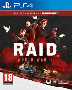 Raid World War II Playstation PS4 NEW! 1042