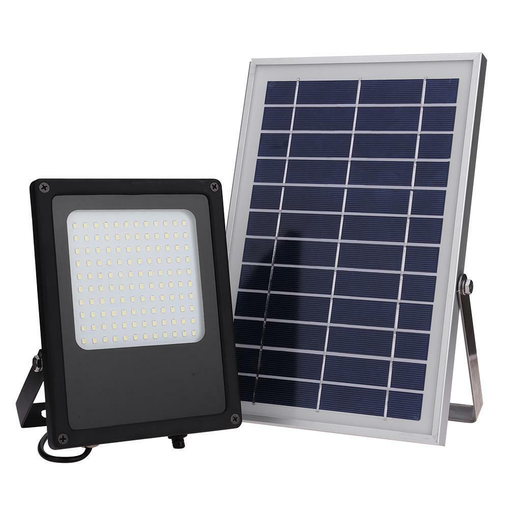 120LED 50W Solar Sensor De Luz Lámpara Puntual de inundación impermeable al aire libre casa patio SMD