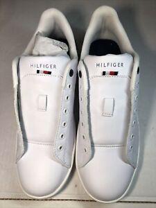 Tommy Hilfiger Men's Liston Low Top Sneaker Shoes White Size 9.5 !!!no laces!!