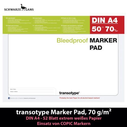 COPIC Markern Papier transotype Marker Pad 70 g//m BLOCK Layoutpapier DIN A4