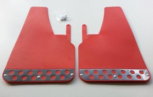 X 2 1 Par frontal Rojo Rally MUD FLAPS SPLASH guardias se ajusta Subaru MF2