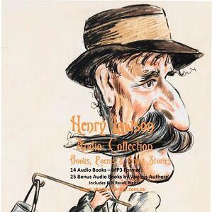 CD - Henry Lawson Audio Collection - 14 Audio + 25 Bonus Audio Books
