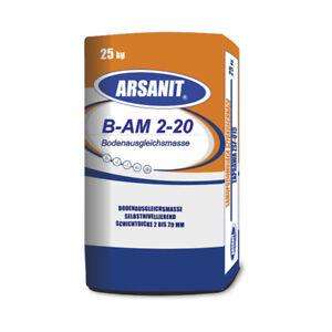 Nivelliermasse-ARSANIT-HQ-Ausgleichsmasse-25kg-selbstnivellierend-fuer-Boden