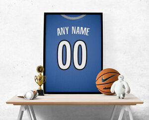 Minnesota Timberwolves Jersey Poster-Personalized Name & Number FREE US SHIPPING