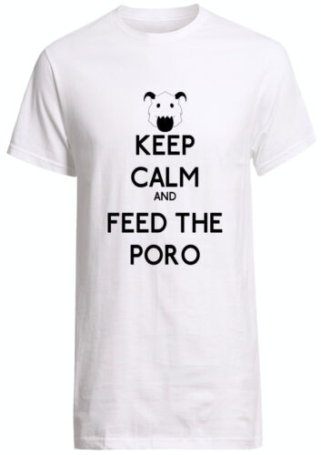 League of Legends Legend Keep Calm And Feed The Poro Fruit Of the Loom T-shirt